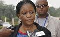 Déclaration à la presse : visite de Mme Zainab Hawa Bangura en République centrafricaine