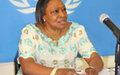 Mme Margaret Vogt échange avec les médias centrafricains